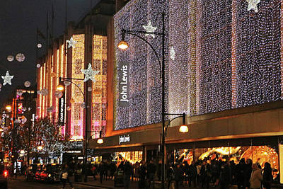 Photograph - John Lewis Lights by Tony Murtagh