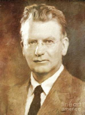 John Logie Baird, Inventor By Mary Bassett Art Print by Mary Bassett