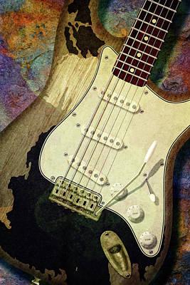 Photograph - John Mayer Black Stratocaster by WB Johnston