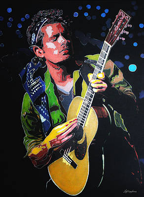 Painting - John Mayer by Hay Rouleaux