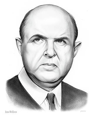 Drawing - John Mcgiver by Greg Joens