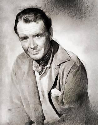John Wayne Painting - John Mills Vintage Actor by John Springfield