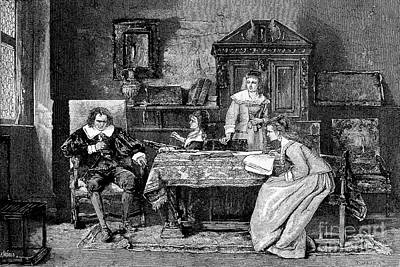 Dictate Photograph - John Milton Dictating Paradise Lost by Wellcome Images