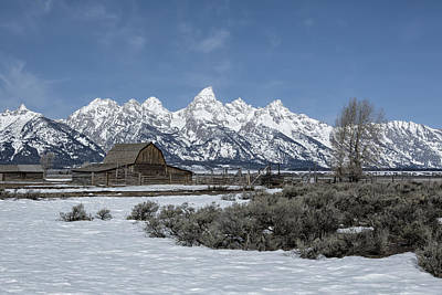 Photograph - John Moulton Barn And The Grand Tetons by Belinda Greb