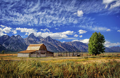 Photograph - John Moulton Barn In The Tetons by Carolyn Derstine