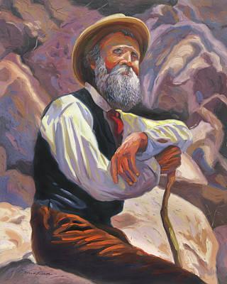 Sierra Painting - John Muir by Steve Simon
