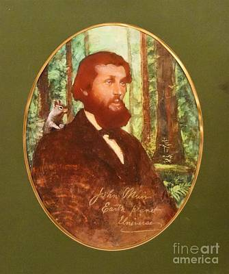 John Muir With Chip On His Shoulder Art Print by Kean Butterfield