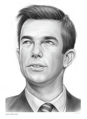 Drawings Royalty Free Images - John Mulaney Royalty-Free Image by Greg Joens
