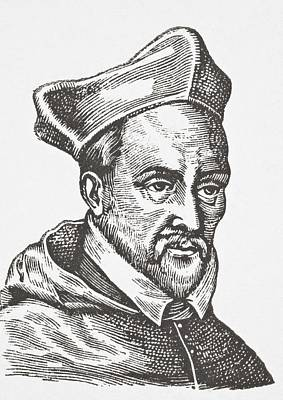 Cardinal Drawing - John Of Lorraine, 1498   1550. French by Vintage Design Pics