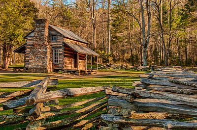 Photograph - John Oliver Cabin Cades Cove by Gene Sherrill
