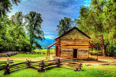 Photograph - John Oliver Cabin by Dale R Carlson