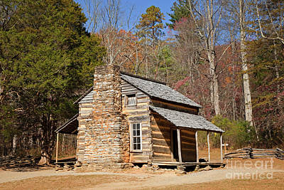 Photograph - John Oliver Cabin Great Smoky Mountains by John Stephens