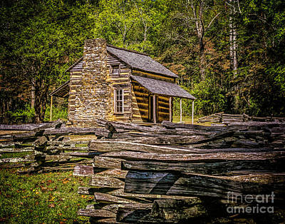 Photograph - John Oliver Cabin In Cades Cove by Nick Zelinsky