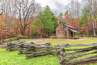 Photograph - John Oliver Cabin by Victor Culpepper