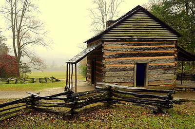Photograph - John Olivers Cabin by Charles Bacon Jr