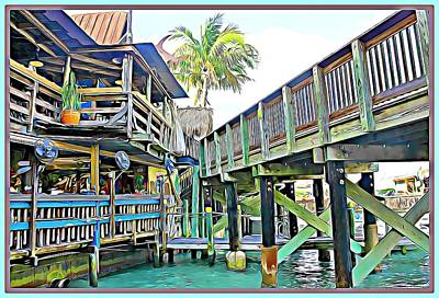 Digital Art - John Pass Florida by Mindy Newman