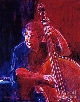 Upright Bass Painting - John Patitucci From The Bottom by David Lloyd Glover
