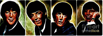 Digital Art - John, Paul, George And Ringo by Stephen Mitchell