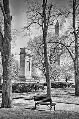 Photograph - John Paul Jones Washington Monument by David Zanzinger