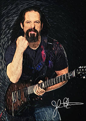 Digital Art - John Petrucci by Taylan Apukovska