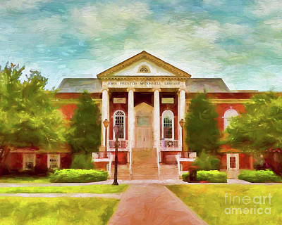 Photograph - John Preston Mcconnell Library At Radford University by Kerri Farley