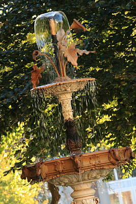 Photograph - John Purdue Fountain In Color by Coby Cooper