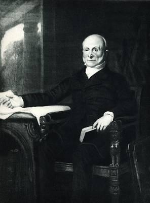 President Adams Drawing - John Quincy Adams  1767-1848  6th by Vintage Design Pics