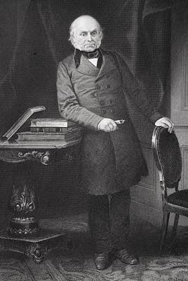 President Adams Drawing - John Quincy Adams 1767-1848. Eldest Son by Vintage Design Pics