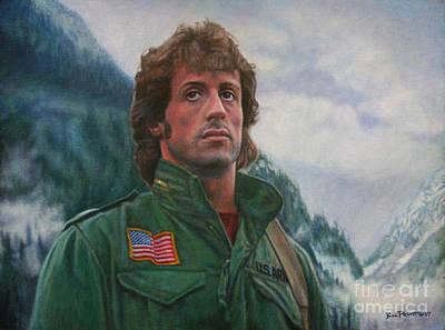 Stallone Painting - John Rambo - First Blood by Bill Pruitt