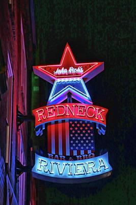 Photograph - John Rich's Redneck Riviera # 3 - Nashville by Allen Beatty