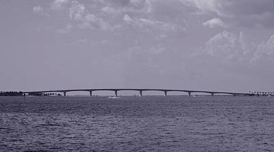 Photograph - John Ringling Causeway Bridge - Sarasota Florida by rd Erickson