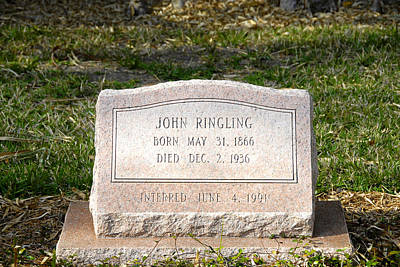Photograph - John Ringling Grave Site by David Lee Thompson