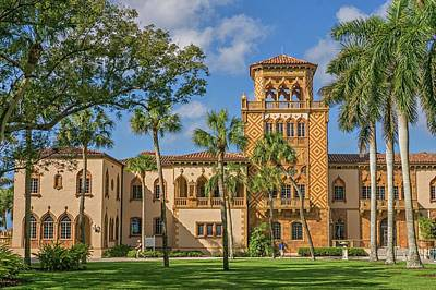 Photograph - John Ringling Home by Dennis Dugan