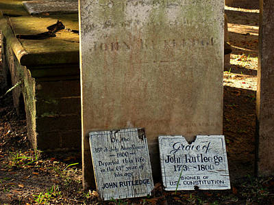 John Rutdledge Grave In Charleston Sc Art Print