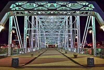 Photograph - John Seigenthaler Pedestrian Bridge by Frozen in Time Fine Art Photography