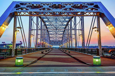 Photograph - John Seigenthaler Pedestrian Bridge - Nashville Tennessee by Gregory Ballos