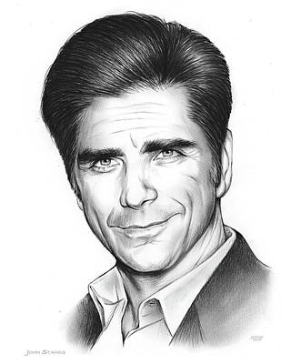 Drawings Rights Managed Images - John Stamos Royalty-Free Image by Greg Joens