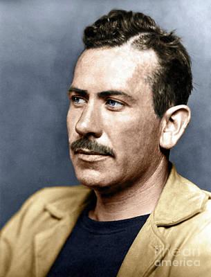 Photograph - John Steinbeck by Granger