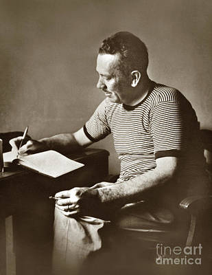 Photograph - John Steinbeck  In Russia. 1947 by California Views Mr Pat Hathaway Archives
