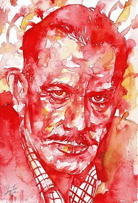 Painting - John Steinbeck - Watercolor On Paper by Fabrizio Cassetta
