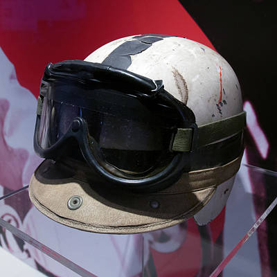 Photograph - John Surtees Helmet And Racing Goggles Museo Ferrari by Paul Fearn
