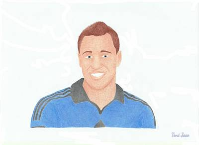Drawing - John Terry by Toni Jaso