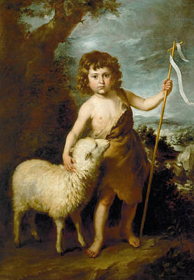 Baptist Painting - John The Baptist As A Child by Bartolome Esteban Murillo
