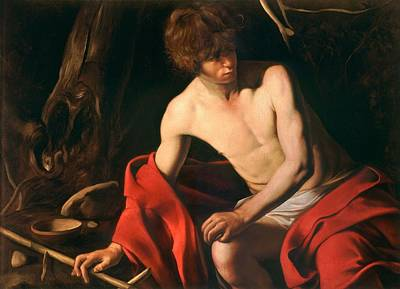 Caravaggio Painting - John The Baptist By Caravaggio, Circa 1603 by Celestial Images
