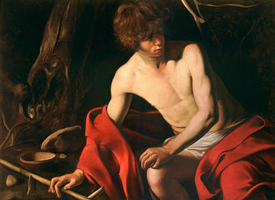 Baptist Painting - John The Baptist by Caravaggio