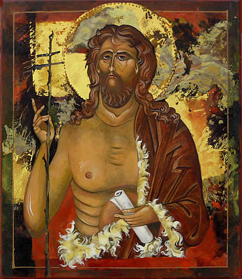 Art-print Wall Art - Painting - John The Baptist by Mary jane Miller