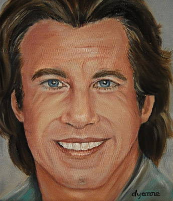 John Travolta Celebrity Painting Art Print by Dyanne Parker