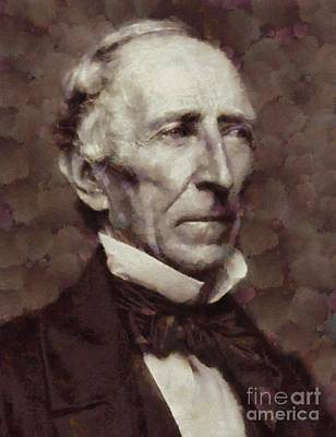 John Tyler, President Of The United States By Sarah Kirk Art Print by Sarah Kirk
