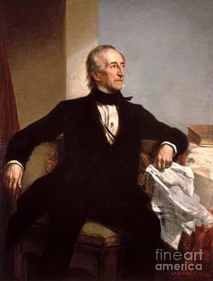 Presidential Painting - John Tyler Presidential Portrait by Celestial Images