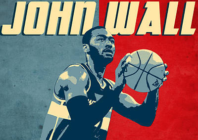 Champion Digital Art - John Wall by Semih Yurdabak